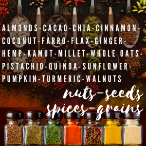 Superfood Nuts-Seeds-Spices-Grains
